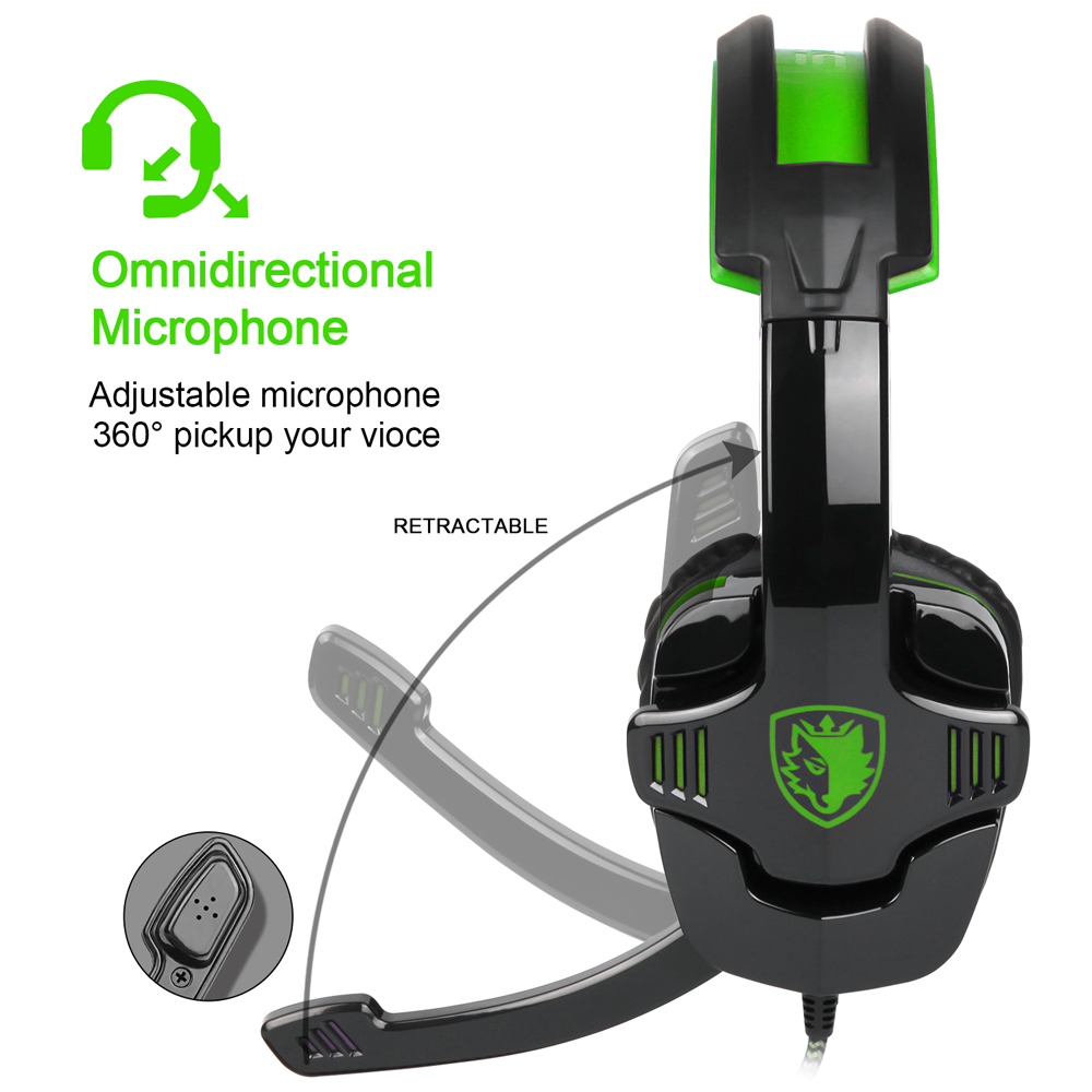 SADES SA-930 3.5mm Gaming Headset Noise Cancellation Hifi Music Headphones Mic