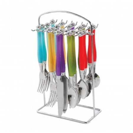 Santoro Stainless Steel Flatware Set with Hanging Rack, 20 Piece - image 1 de 1