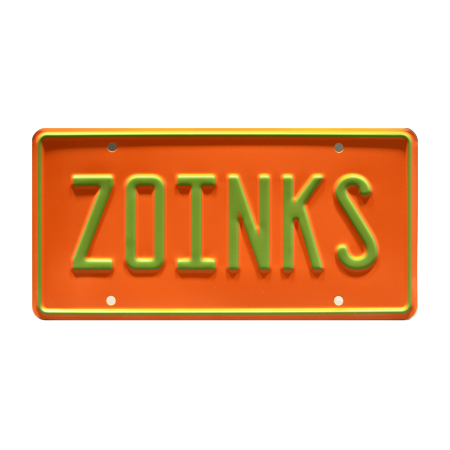 Scooby-Doo | The Mystery Machine | ZOINKS | Metal Stamped Vanity License Plate ()