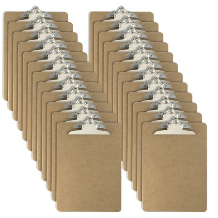 Officemate Letter Size Wood Clipboards, 6 Inch Clip, 24 Pack Clipboard, Brown (Aluminum Clipboard Letter)