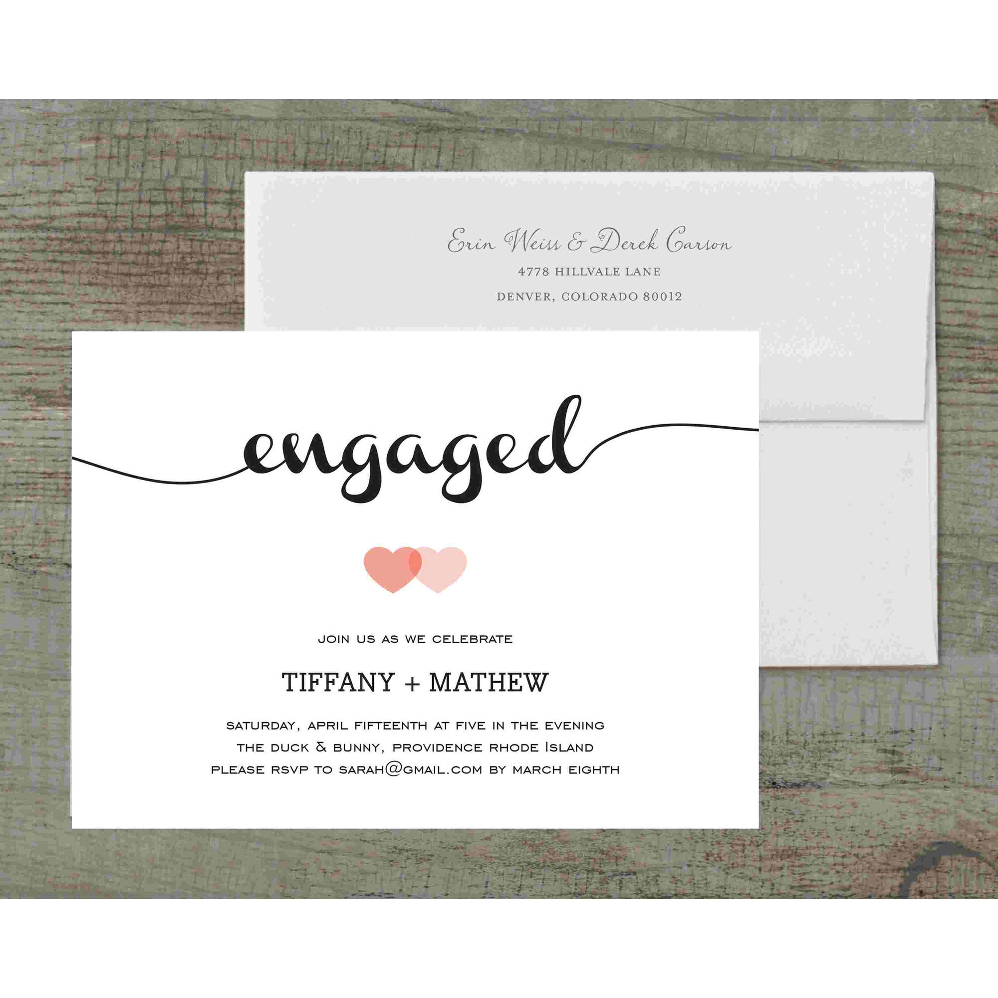 Loving Engagement Party Invite Deluxe Engagement