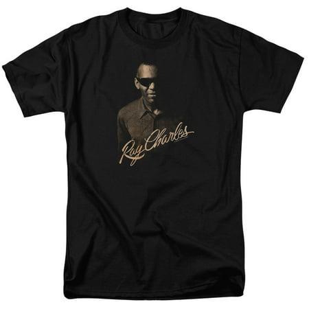 Ray Charles Musician The Deep Adult T-Shirt Tee (Musician Adult T-shirt)