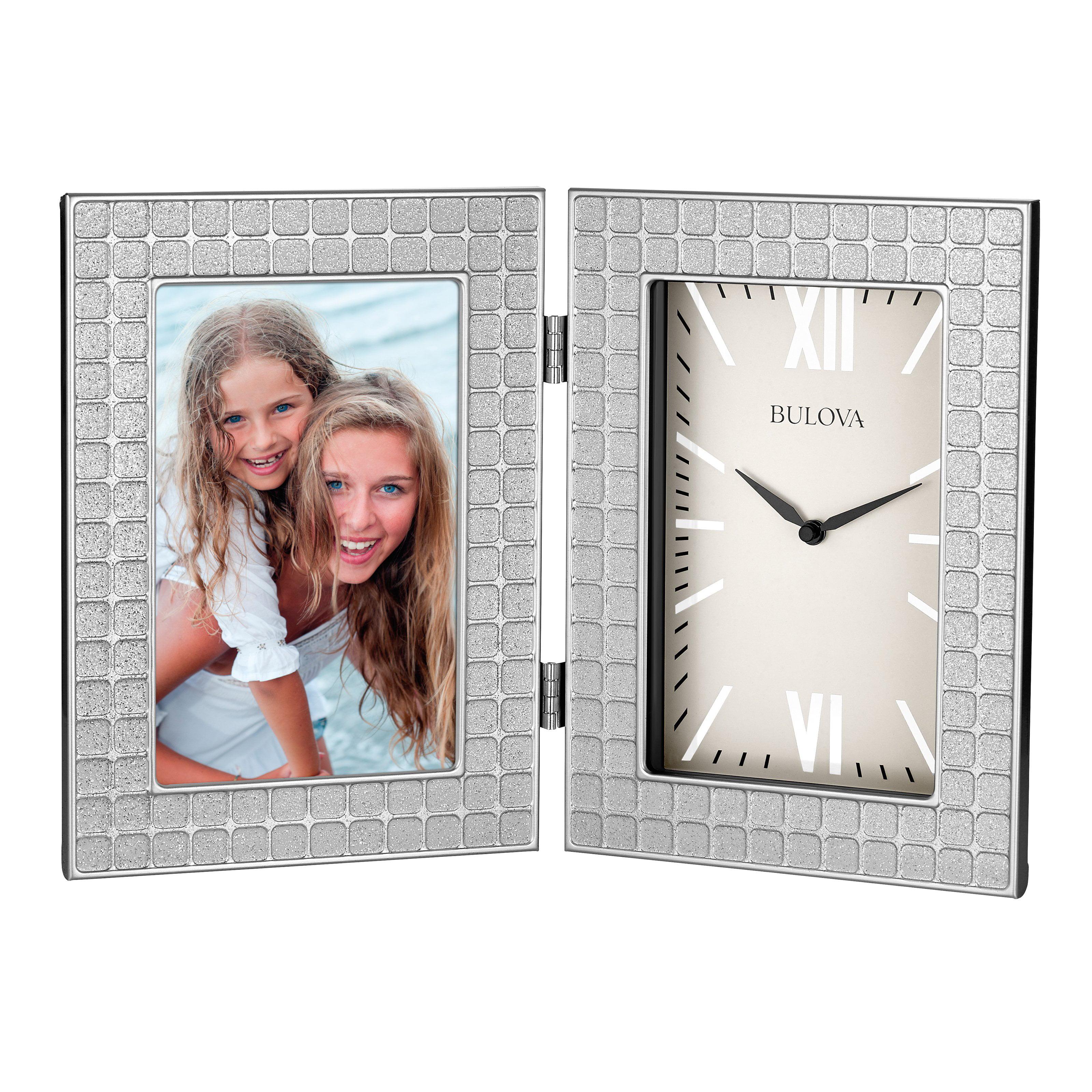 Bulova IMage Picture Frame Desk Clock by Bulova