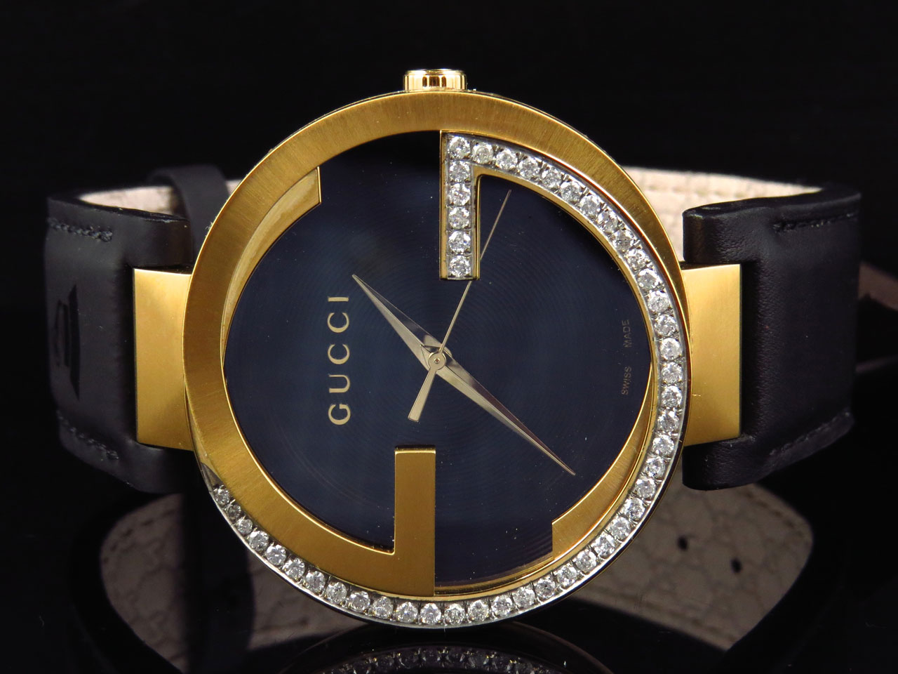 914a89bab11 Gucci - Mens Interlocking GG Diamond Watch YA133212 (1.25 ct) - Walmart.com