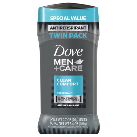 Anti Seize Stick (Dove Men+Care Men+Care Clean Comfort Antiperspirant Stick, 2.7 oz, Twin Pack )