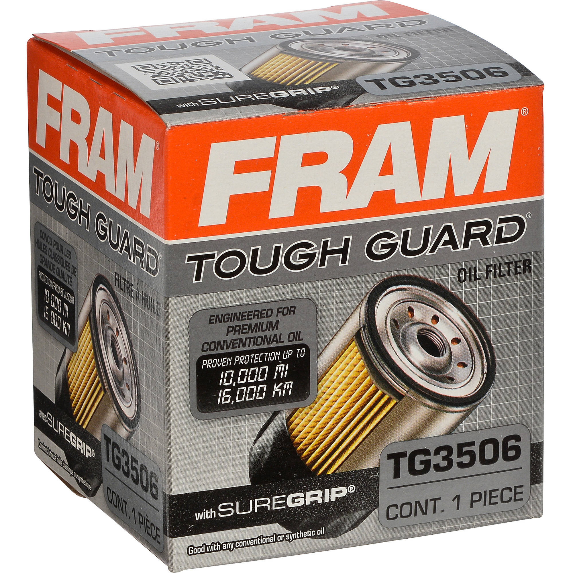 Walmart Oil Filter Finder >> FRAM Tough Guard Oil Filter, TG3506 - Walmart.com