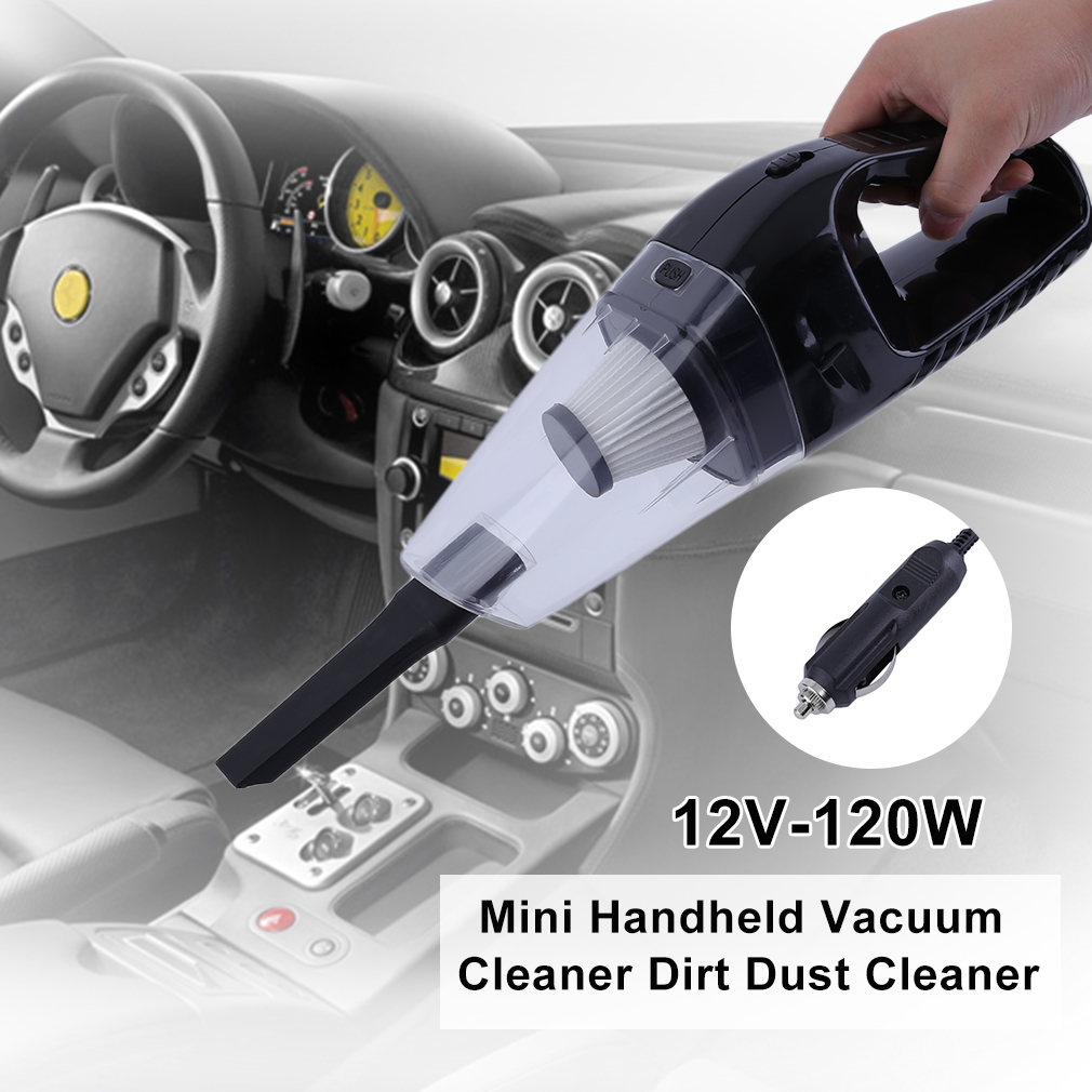 Hot Sale High Power Portable 12V-120W Mini Handheld Vacuum Cleaner Dirt Dust Cleaner Black