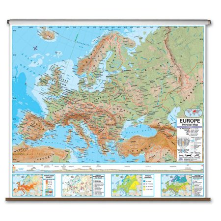Universal Map Advanced Physical Map   Europe