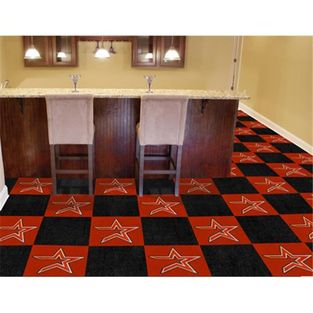Fanmats 8585 Houston Astros Carpet Tiles 18 In  X 18 In  Tiles