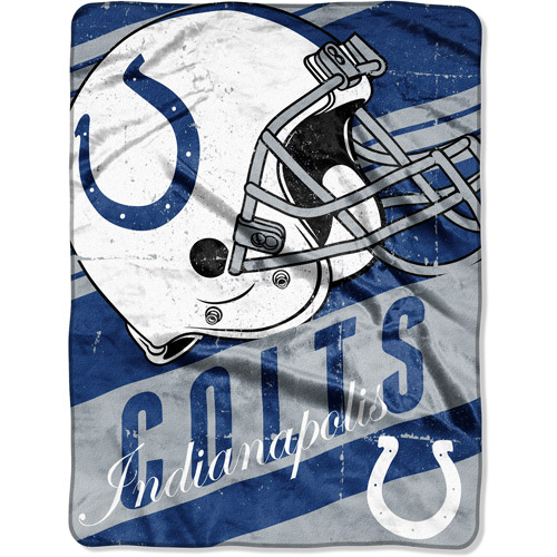 "NFL Micro Raschel Deep Slant 50"" x 60"" Throw, Indianapolis Colts"