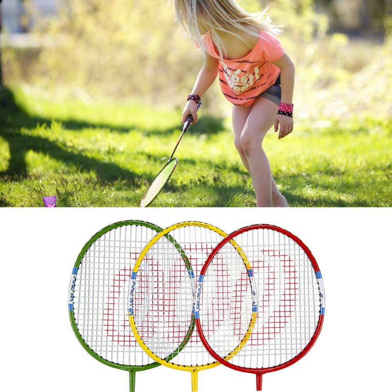 A Pair/SET Carbon Aluminum Badminton Racket Sport Match Badminton Racquet