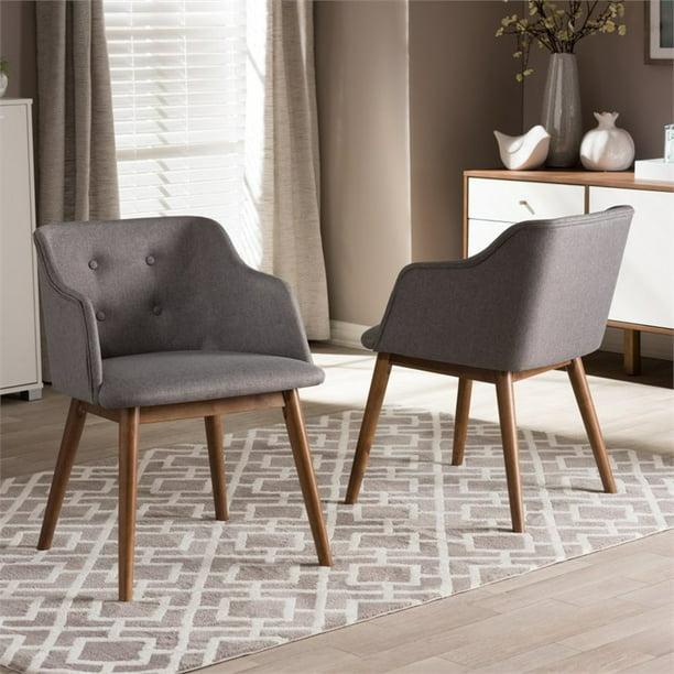 Harrison Accent Chair In Gray Set Of 2 Walmart Com Walmart Com