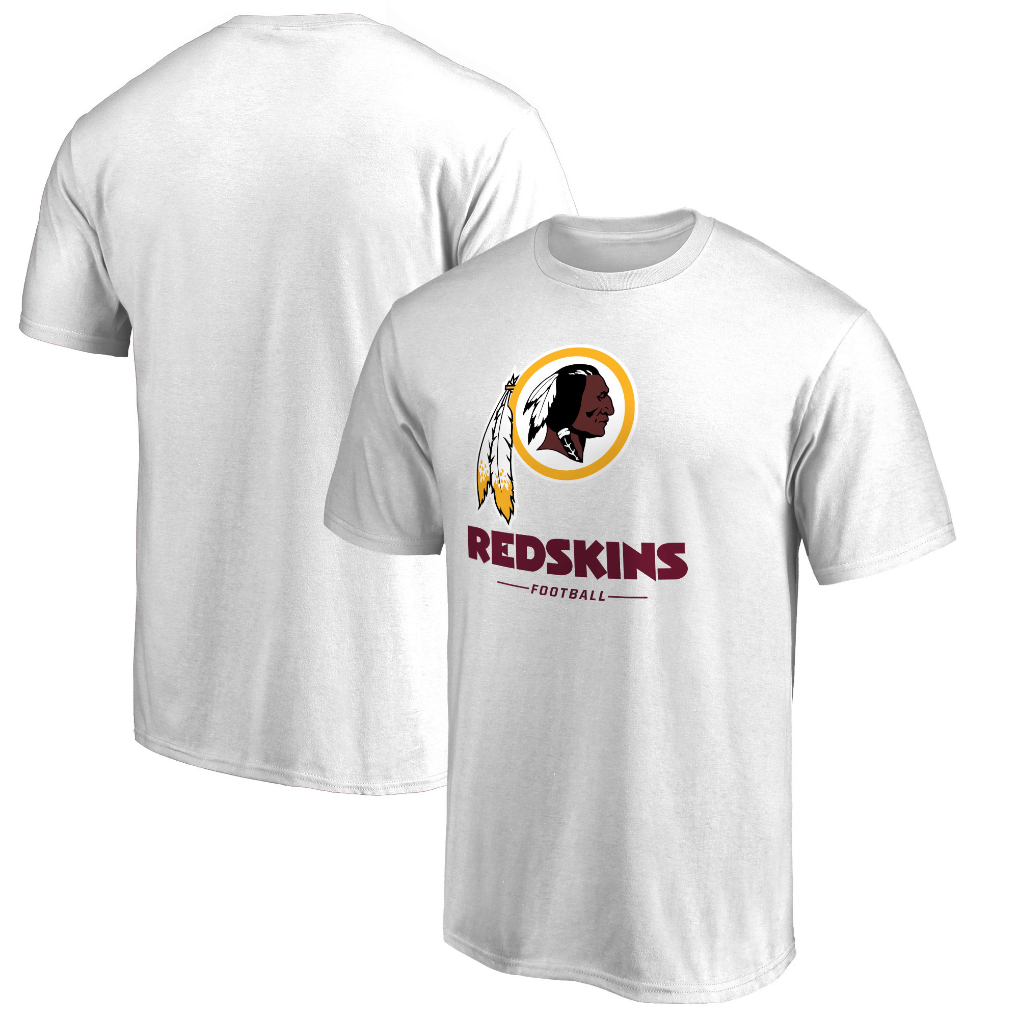 Washington Redskins NFL Pro Line by Fanatics Branded Team Lockup T-Shirt - White