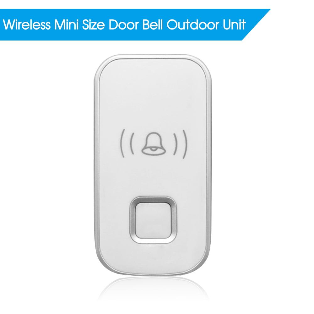 Wireless Mini Size Door Bell Outdoor Push Button IP55 Waterproof Doorbell Elegant Design Sensitive Transmission, White