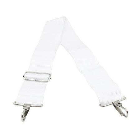 Adjustable Head Strap - JOYFEEL 2019 Clearance 2 Metal Buckles Head Card White 5cm Width Nylon Adjustable Big Bass Drum Strap Belts for Parade