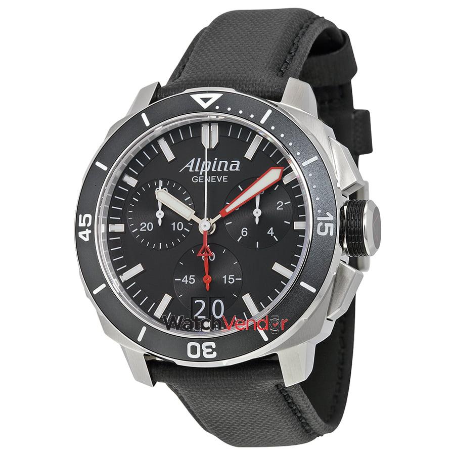 Alpina Seastrong Diver Big Date Chronograph Mens Watch ALLBGV - Alpina diver