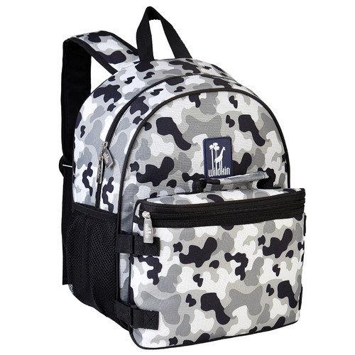 Wildkin Gray Camo Bogo Backpack w/ Lunch Bag