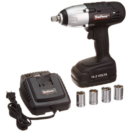 1 2 Cordless Impact >> Truepower 300 Ft Lbs 1 2 Drive Cordless Impact Wrench Kit 19 2v
