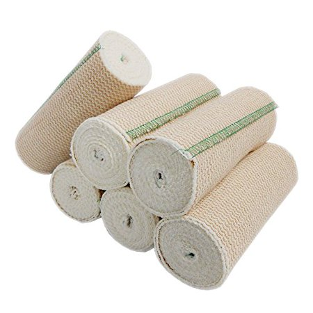 Premium Body Wrap Elastic Bandages Latex Free (Pack of 6) by Spa -