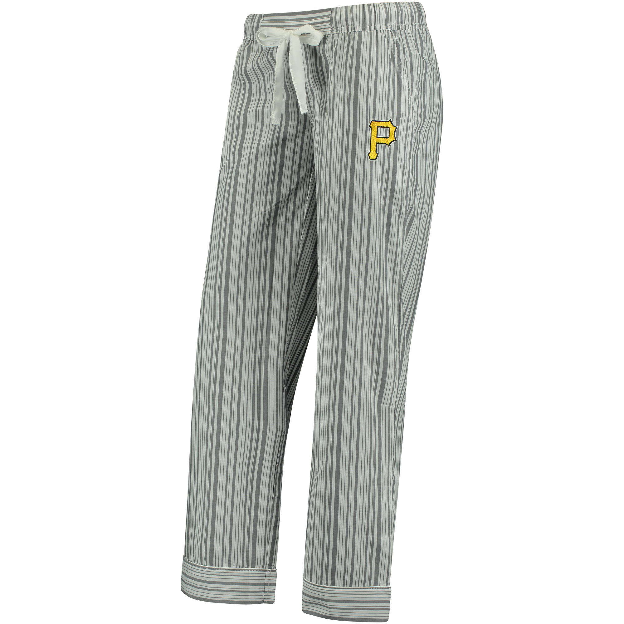 Pittsburgh Pirates Concepts Sport Women's Principle Woven Lounge Pants - Charcoal/White