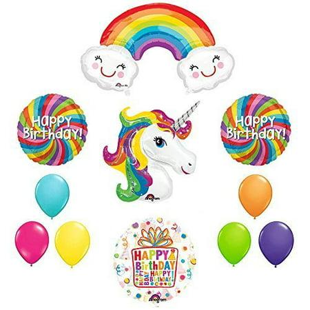 The Ultimate Rainbow Swirls Rainbow Unicorn Birthday Party Supplies