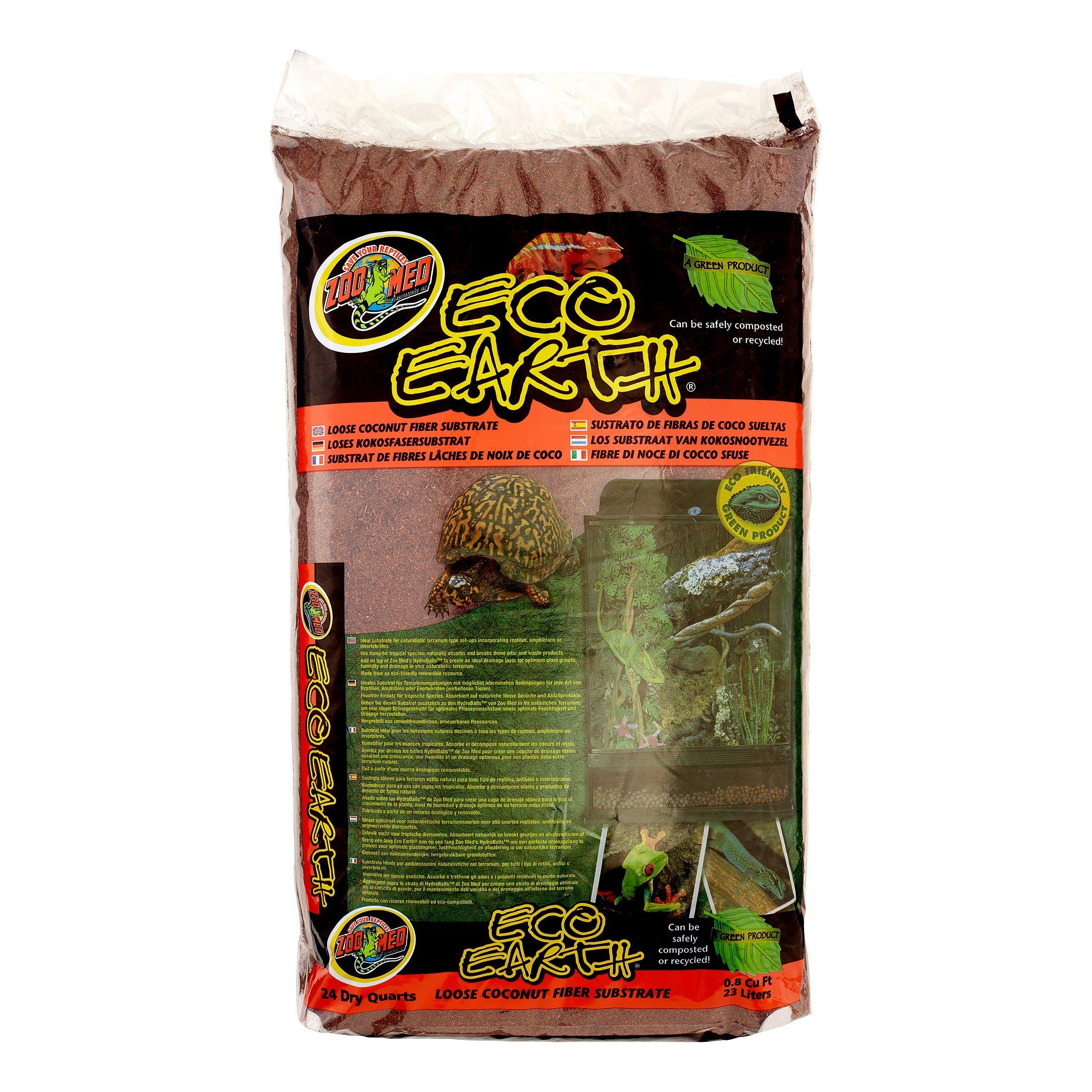 Zoo Med Eco Earth Loose Coconut Fiber Reptile Substrate, 24 Dry Qt by ZOO Med LABORATORIES INC