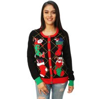 0ca6f80fda33 Product Image Ugly Christmas Sweater Women s Stuffed Stocking Cardigan  Sweater