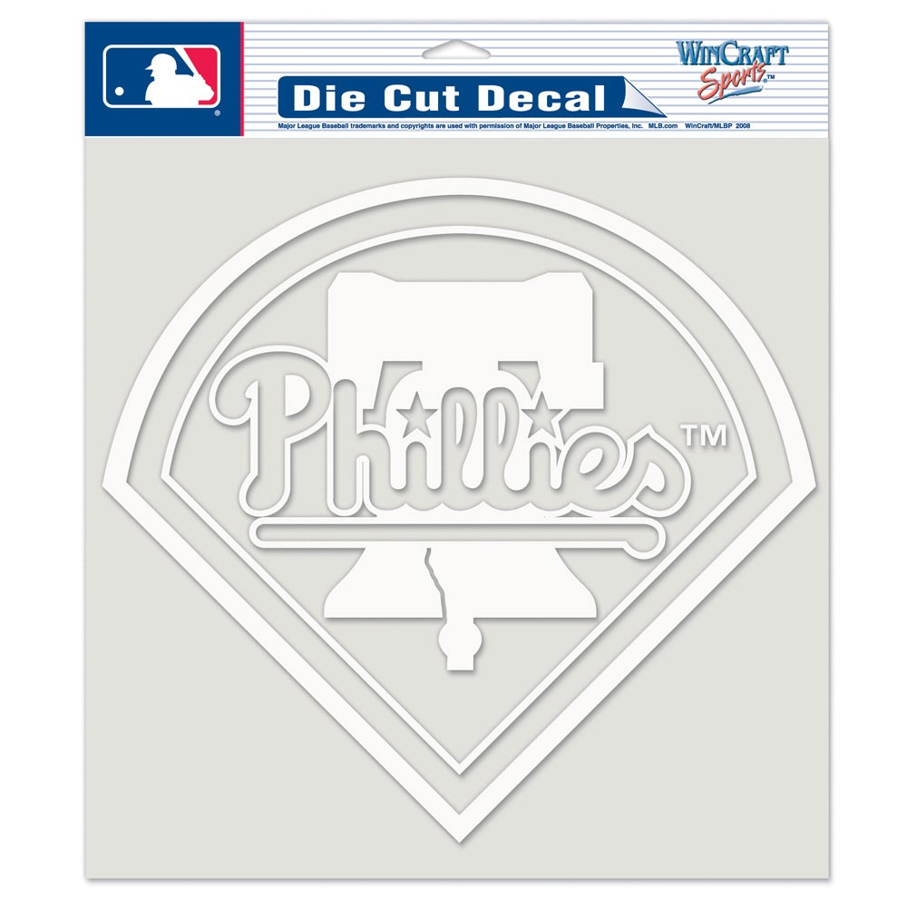 Philadelphia Phillies Official MLB 8 inch x 8 inch  Die Cut Car Decal by Wincraft
