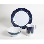 Galleyware 1078-S 12 Decorated Melamine Non-skid 12 Piece Dinnerware Gift Set