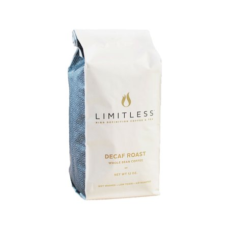 Limitless Coffee Air Roasted Whole Bean Coffee, Decaf Roast, 12 Ounce (Coffee Beans Decaf)