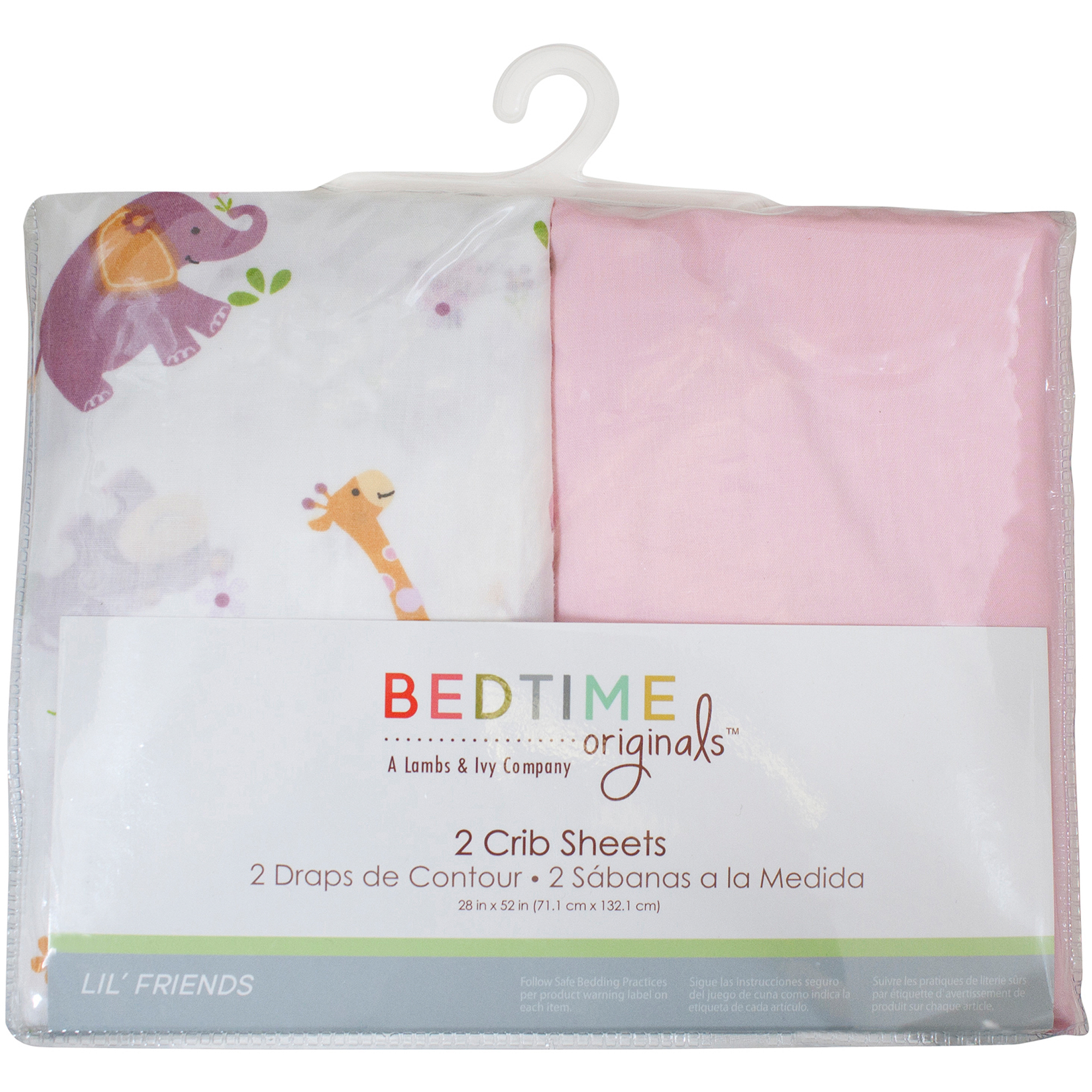 Bedtime Originals Lil' Friends Set of 2 Fitted Crib Sheets