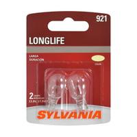 Sylvania 921 Long Life Halogen Automotive Mini Bulb, Pack of 2.