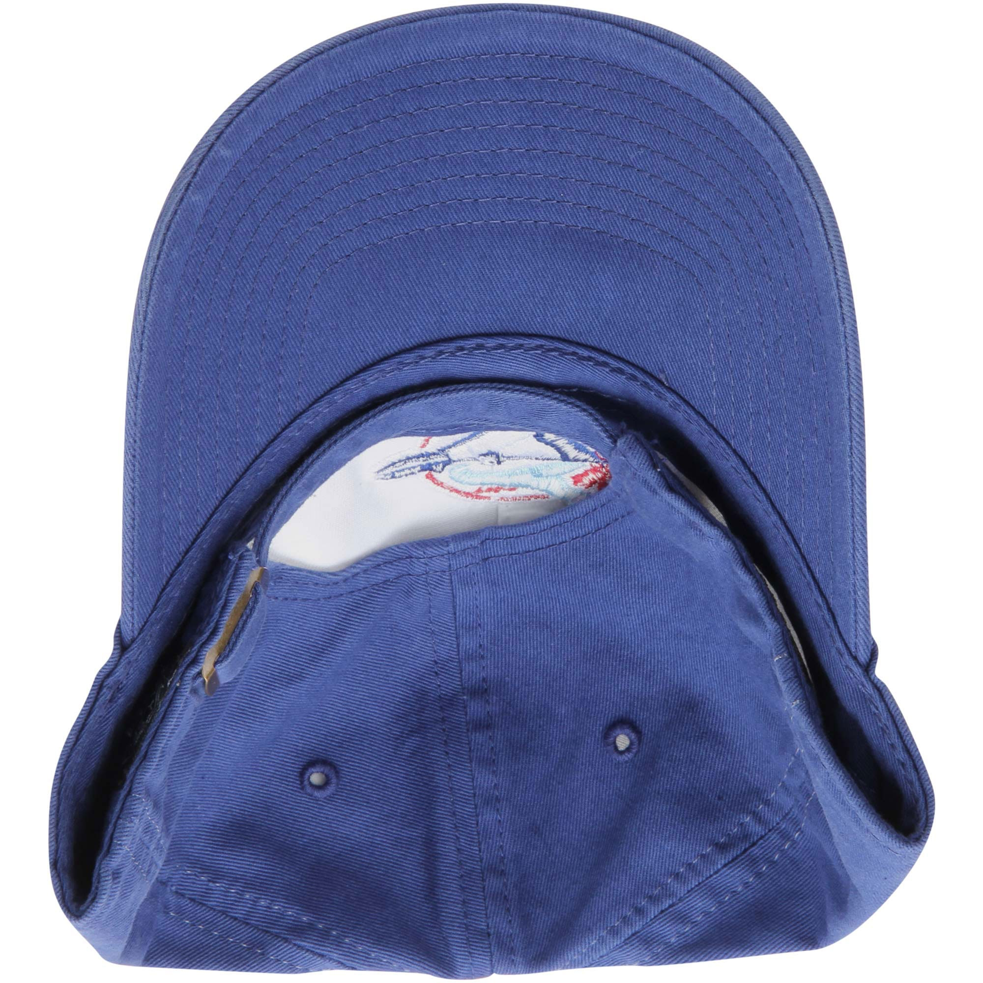 56135ea763980 Toronto Blue Jays  47 Brand Cooperstown Collection Basic Logo Cleanup  Adjustable Hat - Royal Blue - OSFA - Walmart.com