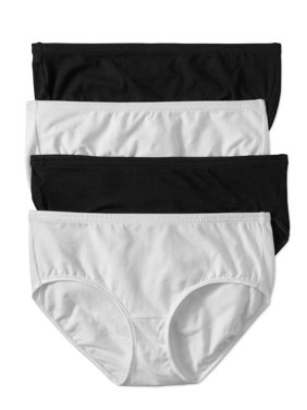 Best Fitting Panty Women's Cotton Stretch Hipster Panties, 4-Pack