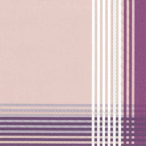 4 PACKS PAPER LUNCH NAPKINS/CROSS purple 4 Packs Paper Lunch Napkins/Cross Purple