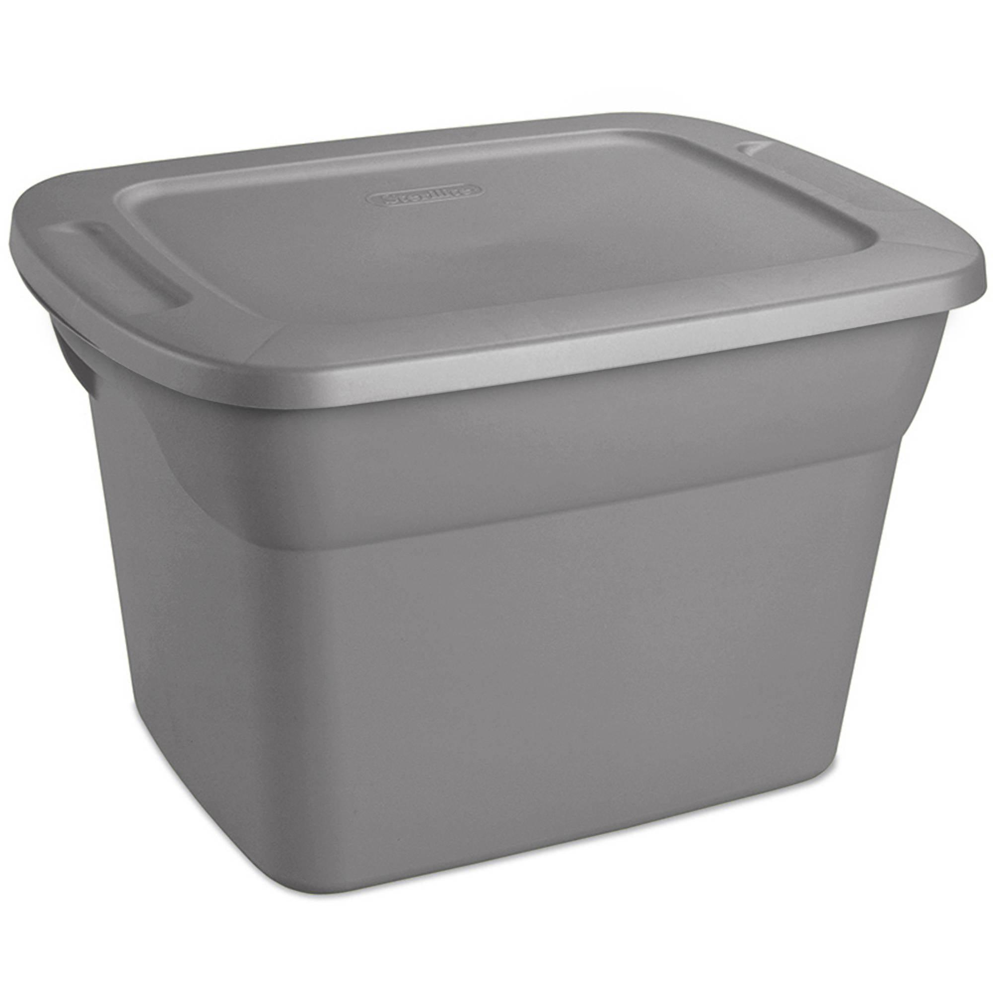 Sterilite 10 Gallon Tote- Steel (Available in Case of 9 or Single Unit)