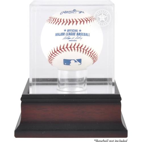 Houston Astros Fanatics Authentic (2013-Present) Mahogany Baseball Logo Display Case - No Size