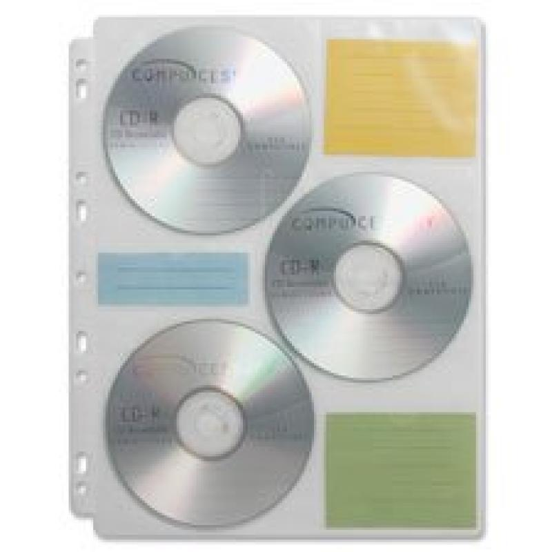 CD Media Binder Storage Pages, 25 Refill Pages/PK, Sold as 1 Package, 25 Each per Package