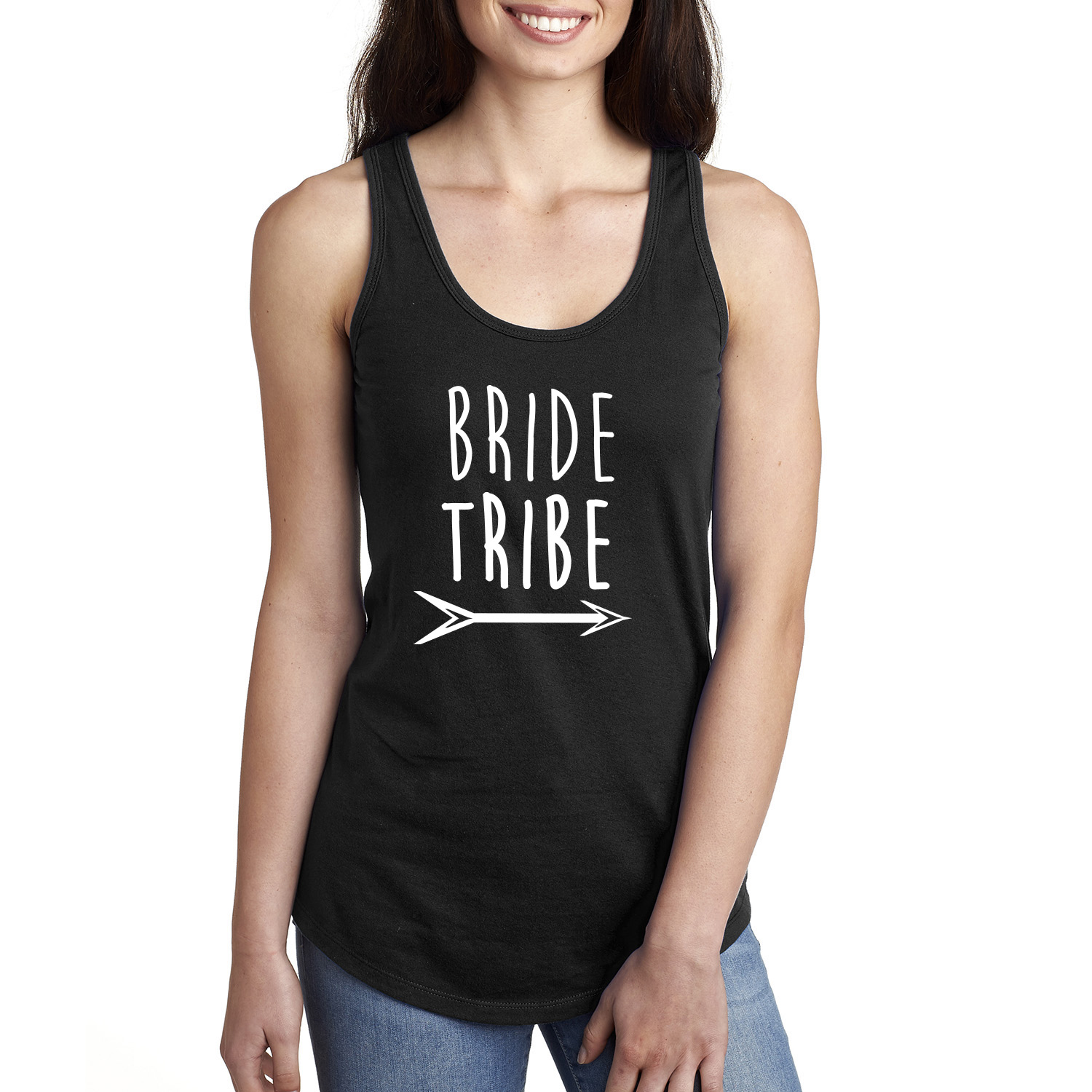 Bride Tribe with Arrow Raceback Tank