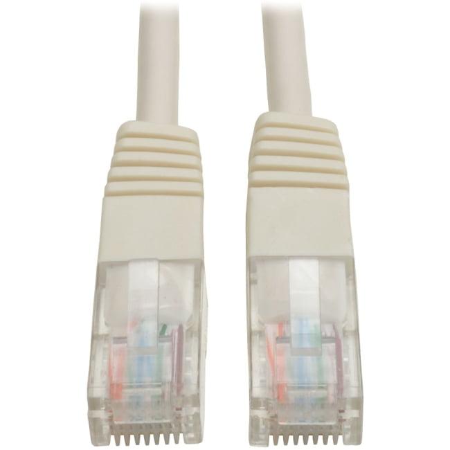 Tripp Lite 1ft Cat5e 350MHz Molded Patch Cable (RJ45 M/M) - White