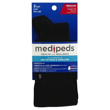 Medipeds Medium Over the Calf Socks, 1 pack