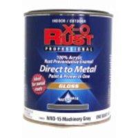 WXO15 X-O Rust QT Gloss Machinery Gray Water Base Interior/Exterior An
