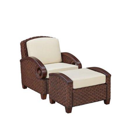 Cabana Banana Iii Cinnamon Chair And Ottoman Walmart Com