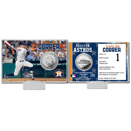 Carlos Correa Houston Astros Highland Mint Mint Player Silver Collector Coin Card - No Size