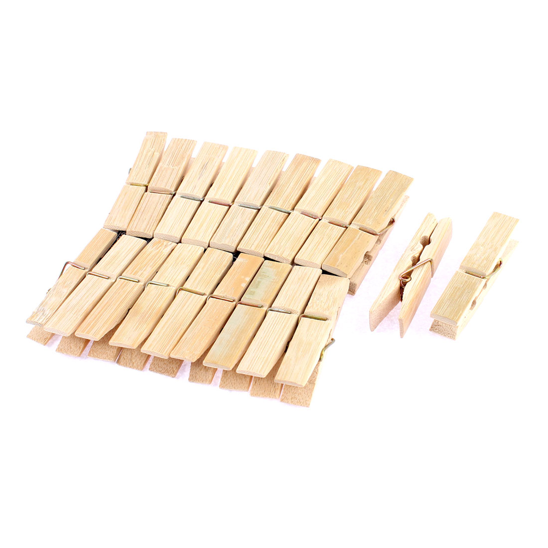 20 Pcs Household Wooden Nonslip Multipurpose Clothing Clothespins Clips