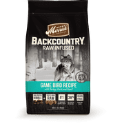 Merrick Backcountry Grain-Free Raw Infused Game Bird Recipe Dry Dog Food, 22 lb