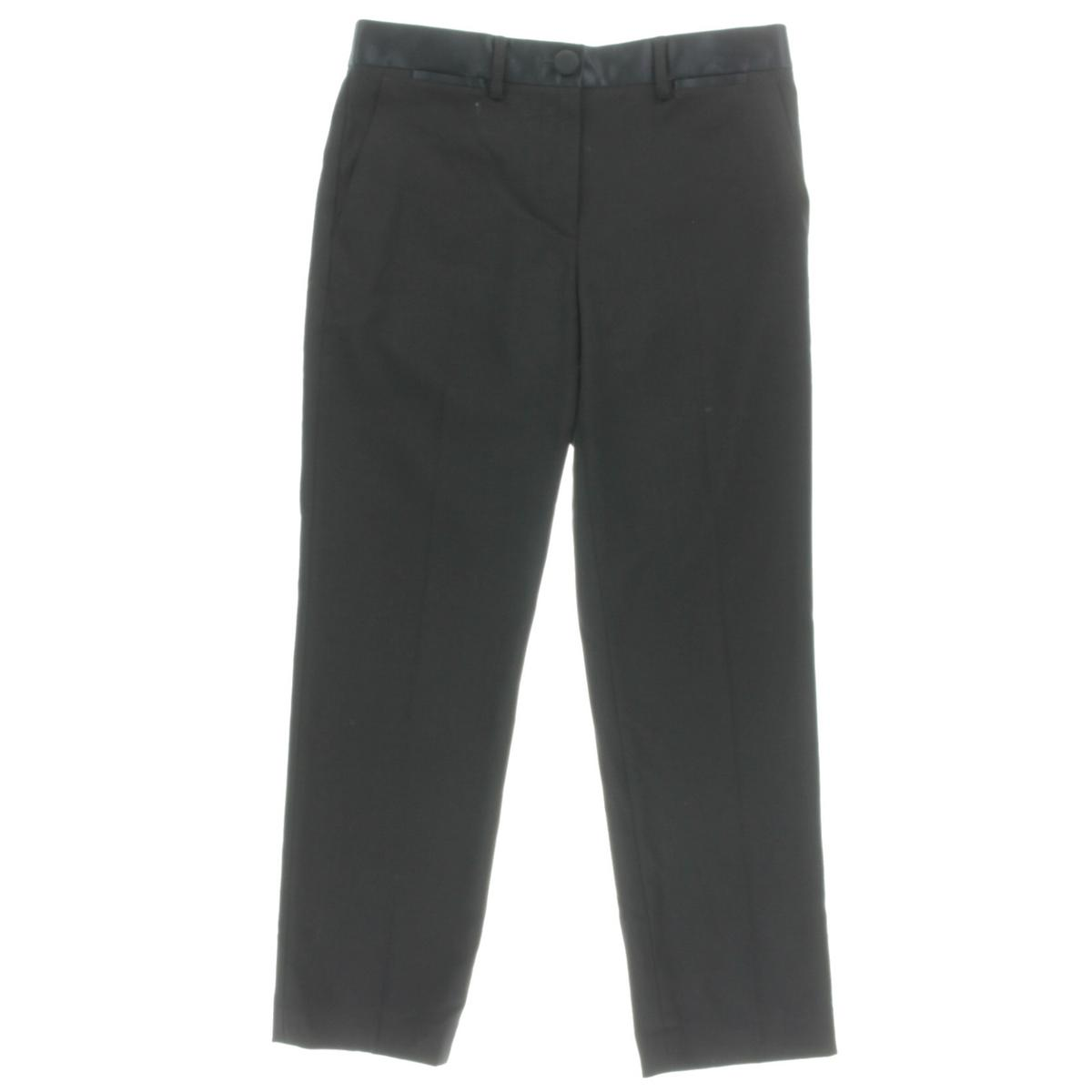 Helmut Lang Womens Wool Textured Cropped Pants by Helmut Lang