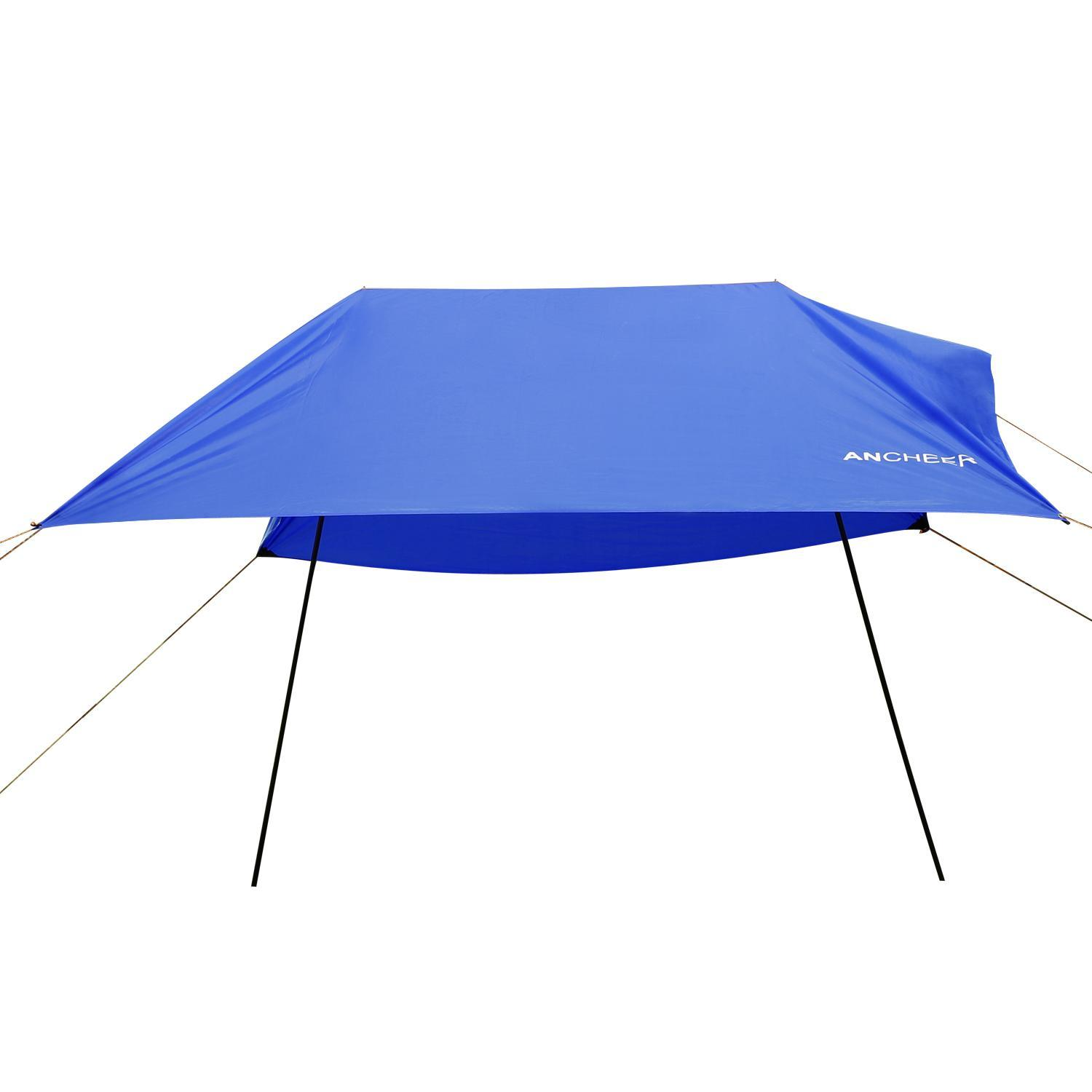 9.8 x 9.8ft  Beach Tent with Sand Anchor, Portable Lightweight  Canopy Sun Shelter