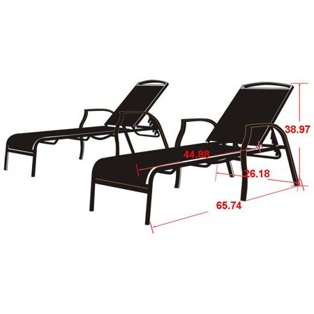 Mainstays sand dune outdoor chaise lounges set of 2 for Chaise longue jardin pvc