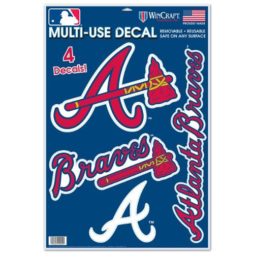 Atlanta Braves Official MLB Window Cling Decal by Wincraft